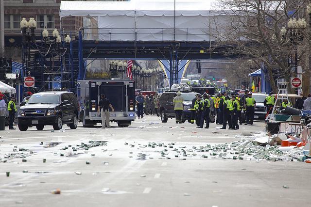 Boston Marathon moment s after the bomb blast - reproduced kind permission Vjeran Pavic
